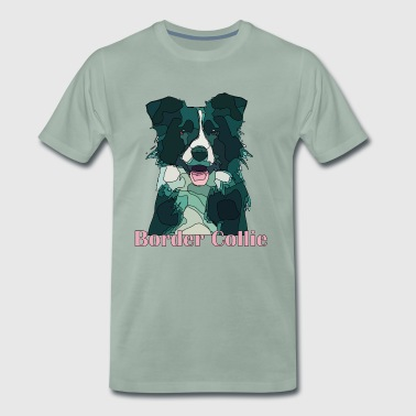 border collie - Herre premium T-shirt