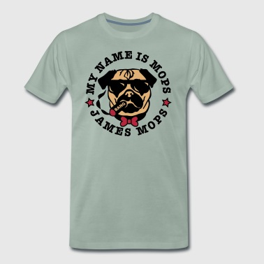 My Name is Mops - James Mops 03 Brille - Männer Premium T-Shirt
