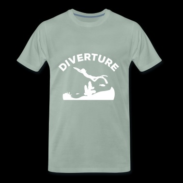 DIVERTURE Freediving Reef - Premium T-skjorte for menn