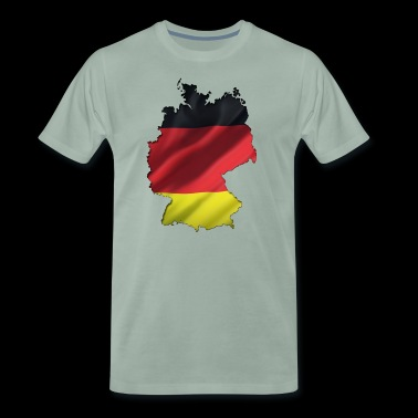 Germany outline flag wavy - Men's Premium T-Shirt