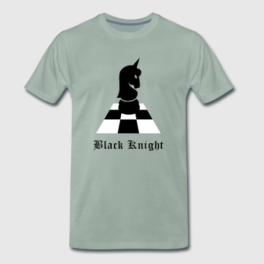 black knight rider knight unicorn chess - Men's Premium T-Shirt