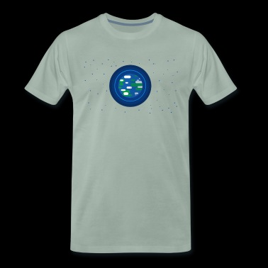 Earth with stars - Men's Premium T-Shirt