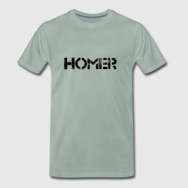 Homer (svart) - Premium T-skjorte for menn
