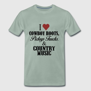 I love cowboy boots - Men's Premium T-Shirt