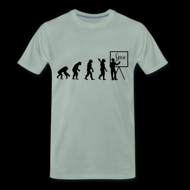 Evolution leads to math - T-shirt Premium Homme