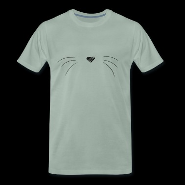 Chat Moustache - T-shirt Premium Homme