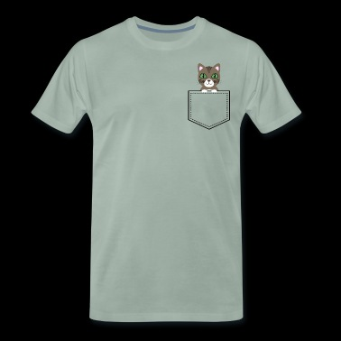 Pocket Animal - brown tabby - Men's Premium T-Shirt