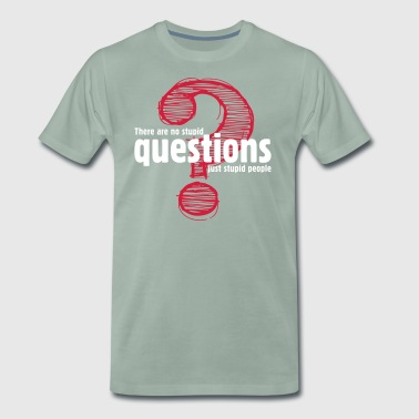 There's No Stupid Questions.Only Stupid People. - Men's Premium T-Shirt