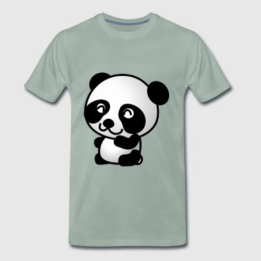 Sweet panda black and white - Men's Premium T-Shirt