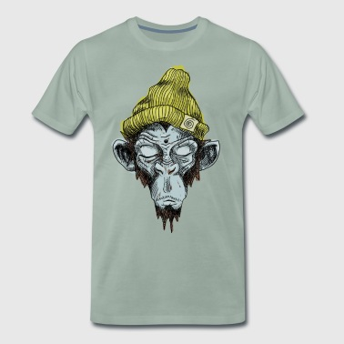 Monkey with hat - Men's Premium T-Shirt
