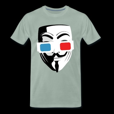 3D cinema glasses mask - Men's Premium T-Shirt