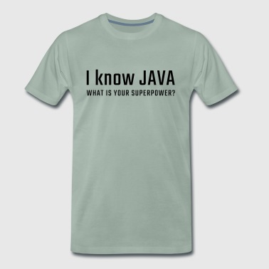 I know JAVA - Men's Premium T-Shirt