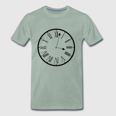Clock analog clock - Men's Premium T-Shirt