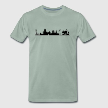 Skyline Lübeck - Men's Premium T-Shirt
