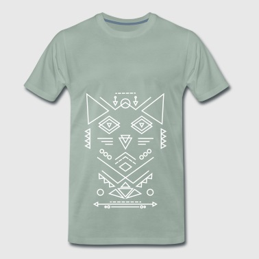 chat tribal couleurs sorbet - T-shirt Premium Homme