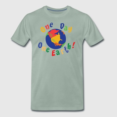 Earth Day One Day One Earth - Mannen Premium T-shirt