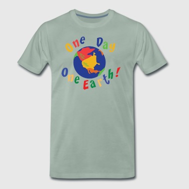 Earth Day One Day One Earth - Premium-T-shirt herr