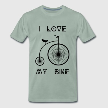 Old school Retro bike I love my cycling bike - Men's Premium T-Shirt