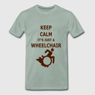 Keepcalmjustwheelchair - Premium T-skjorte for menn