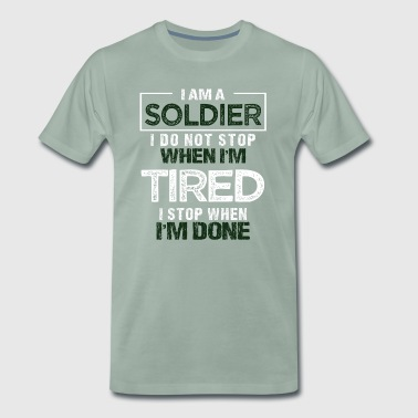 Soldier Gift Soldier Military Use Proverbs - Men's Premium T-Shirt