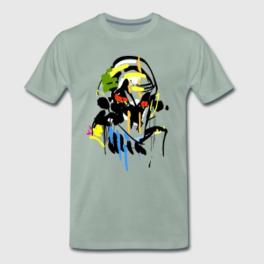 Horror stick figure face - Men's Premium T-Shirt