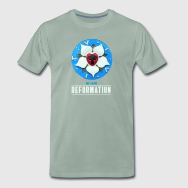 luther rose reformation 500 Kirchentag be teser - Premium-T-shirt herr