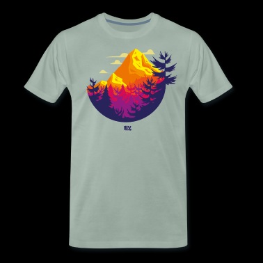 Rocky Mountains Kreis - Männer Premium T-Shirt