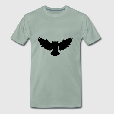 Flying owl - Men's Premium T-Shirt
