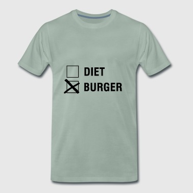 Hamburguesa VS dieta Food Lover - Camiseta premium hombre