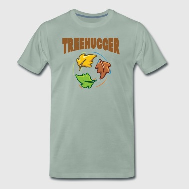 Earth Day TreeHugger - Mannen Premium T-shirt