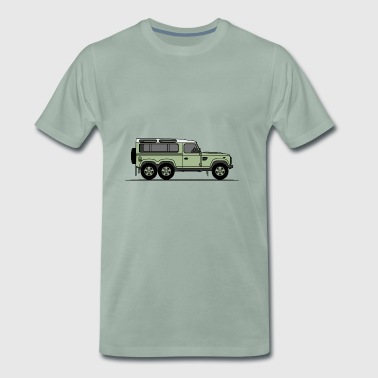 Defender 6x6 Green - Premium-T-shirt herr