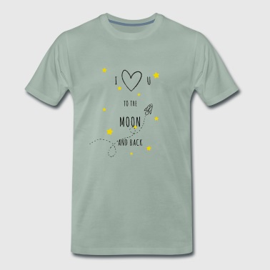 Love to the moon and back - Men's Premium T-Shirt