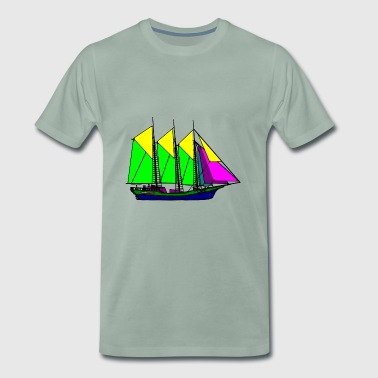 paddle boat sail boat rowing boat sailboat4 - Men's Premium T-Shirt