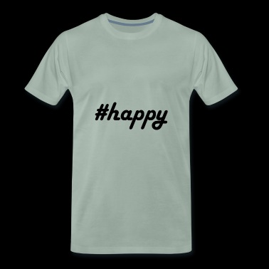 #happy - Premium T-skjorte for menn