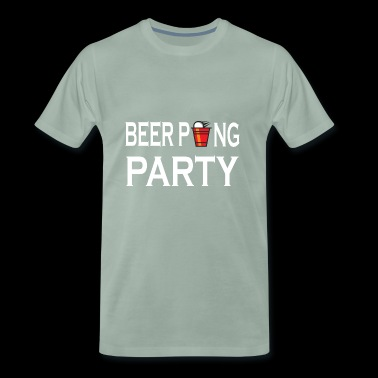Beer Pong Party drinking game - Men's Premium T-Shirt