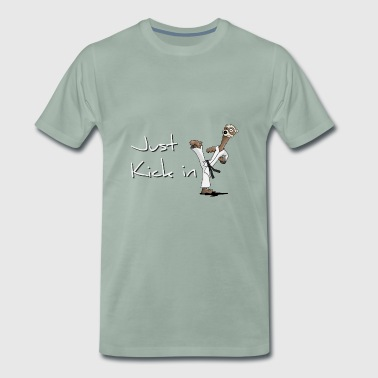 Taekwondo Ferret Kick Fighting Footstep - Men's Premium T-Shirt