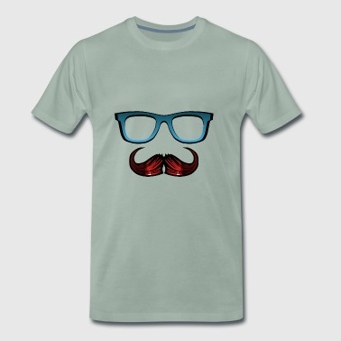 lunette moustache hipster cool 1404 o - T-shirt Premium Homme