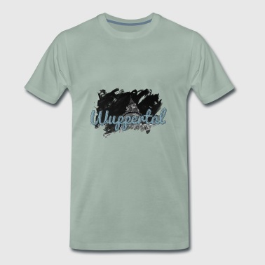 Wuppertal Town Hall with Neptune Fountain - Men's Premium T-Shirt