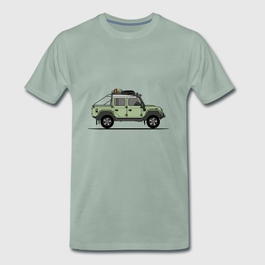 Defender 110 Offroad Pick Up - Premium-T-shirt herr