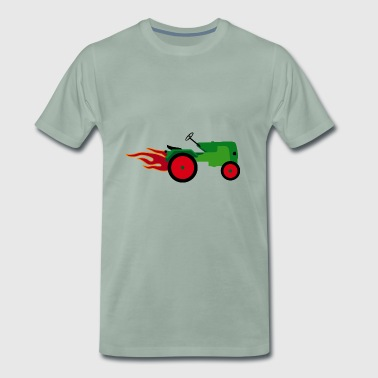 Tractor green | Trecker | Towing truck Bulldog builder - Men's Premium T-Shirt