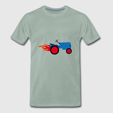 Tractor blue | Trecker | Towing truck Bulldog builder - Men's Premium T-Shirt