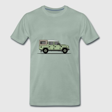 Defender 110 Pick Up - Premium-T-shirt herr