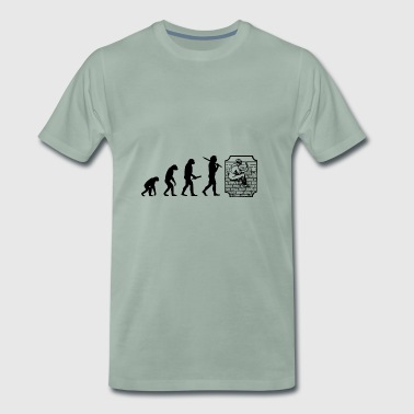 Evolution Development Progress man Maurer - Premium-T-shirt herr