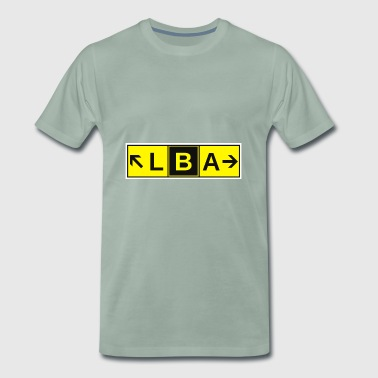 LBA Airport Taxiway Direction Sign Array Leeds - Men's Premium T-Shirt