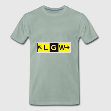 LGW Gatwick Airport Taxiway Direction Sign Array - Men's Premium T-Shirt
