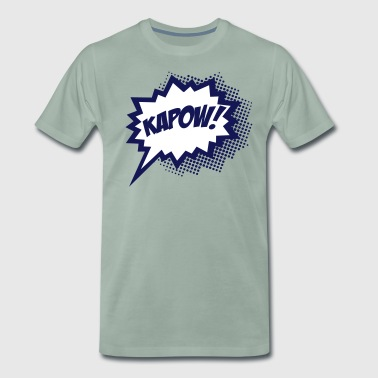 KAPOW!, Comic Style Speech Bubble Bang, Boom, Pow - Männer Premium T-Shirt