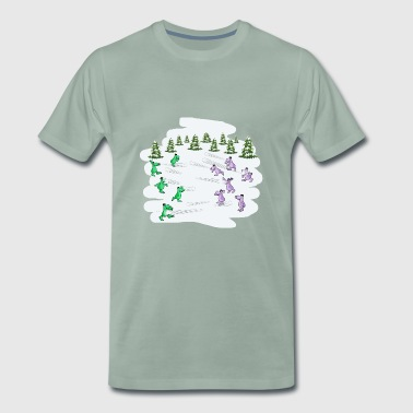 Snowball fightc - Men's Premium T-Shirt