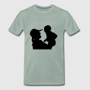 mother and child - Men's Premium T-Shirt