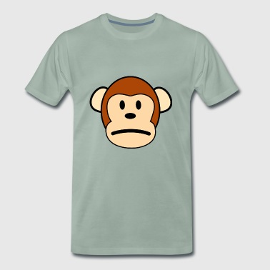 Angst Sad Monkey - Premium T-skjorte for menn