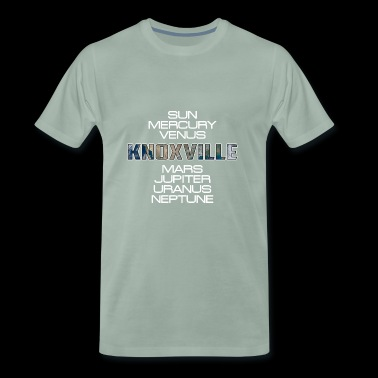 Solar System Planet Earth Knoxville Gift - Premium T-skjorte for menn
